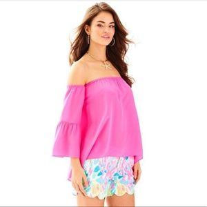 Lilly Pulitzer Sanilla Silk Dress Top